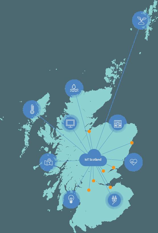 IoT Scotland map